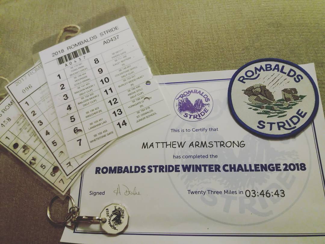 Rombalds Stride Winter Challenge – Pie, peas, and potatoes